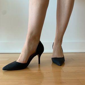 Black Crocodile Kitten ALDO Heels - Size 8.5